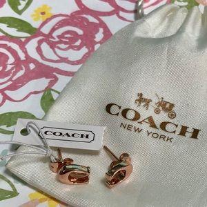 Coach Rose Gold Earrings 🌹💎